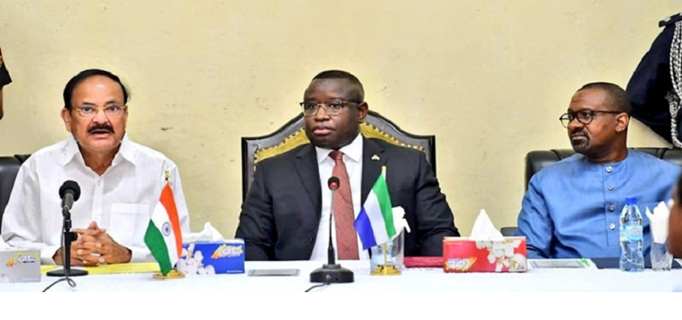 Vice President at the delegation level talks with the President of the Republic of Sierra Leone (13 October 2019)
