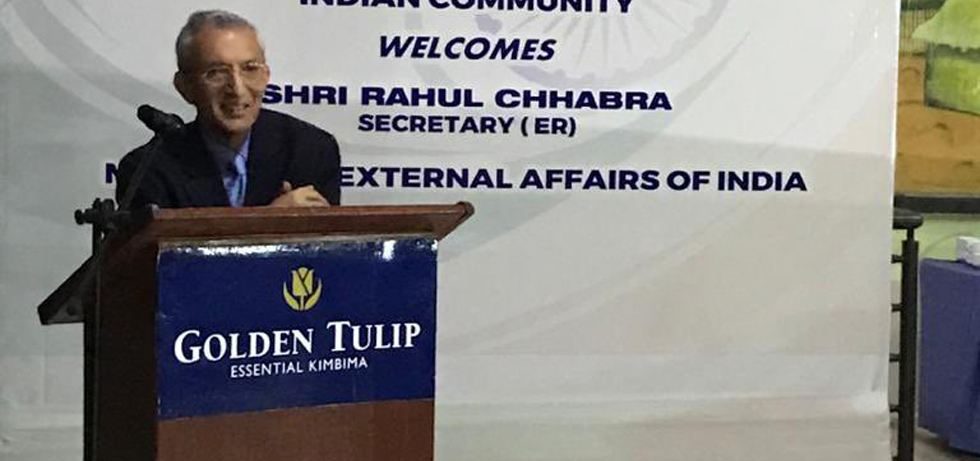 Secretary (ER) H.E. Mr. Rahul Chhabra at the Indian Community Reception in Sierra Leone (25 March 2021)
