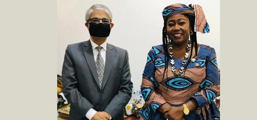 High Commissioner with H.E. Ms. Memunatu B. Pratt, Minister of Tourism and Culture (01 June 2021)