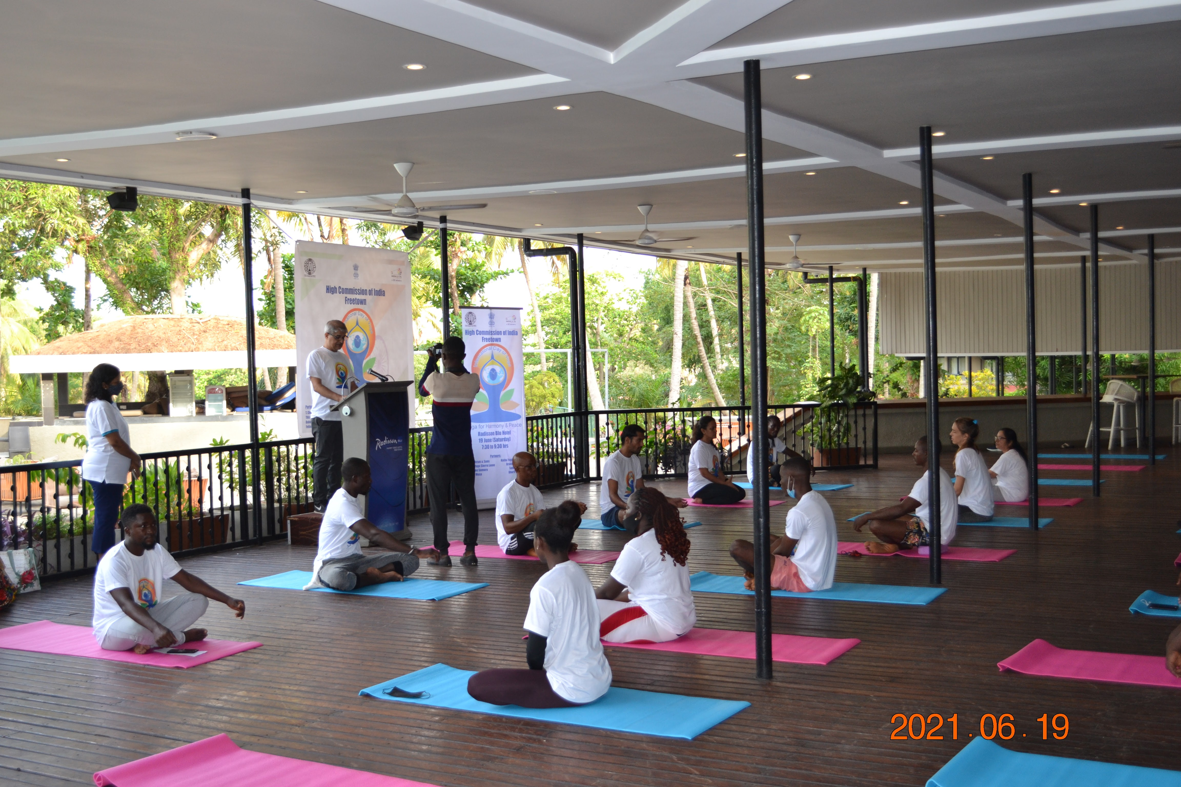 High Commission of India celebrates 'International Day of Yoga 2021' in Freetown, Sierra Leone