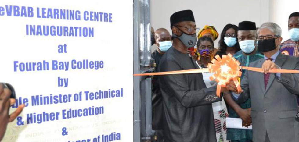 Inauguration of eVBAB Learning Centre for online education from Indian universities by HE Prof. Alpha T Wurie, Minister of Technical & Higher Education & High Commissioner (9 July 2021)