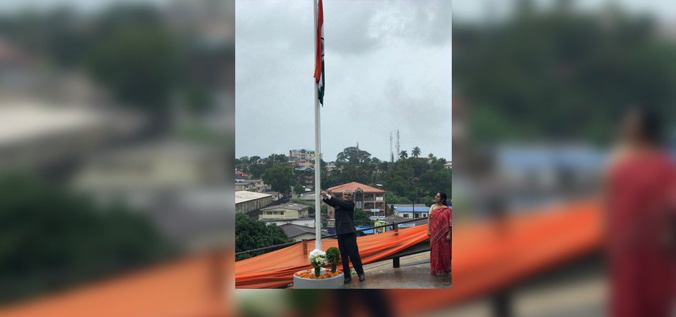 On 75th Independence Day of India, High Commissioner Rakesh Arora hoisted national flag at the new Chancery premises in the presence of Indian community.